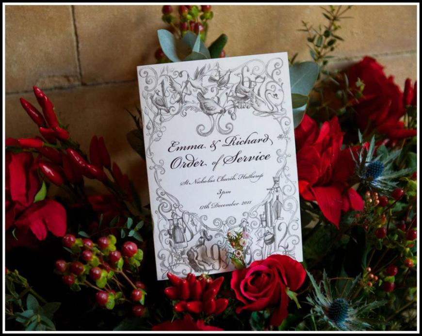 Cotswolds Christmas theme winter wedding