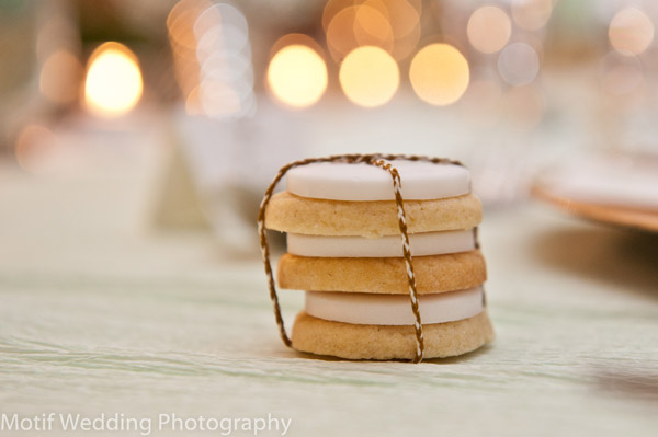 twine tied iced cookies