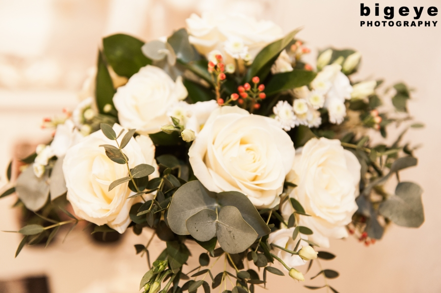 White Roses Winter Floral Display by Bloomers