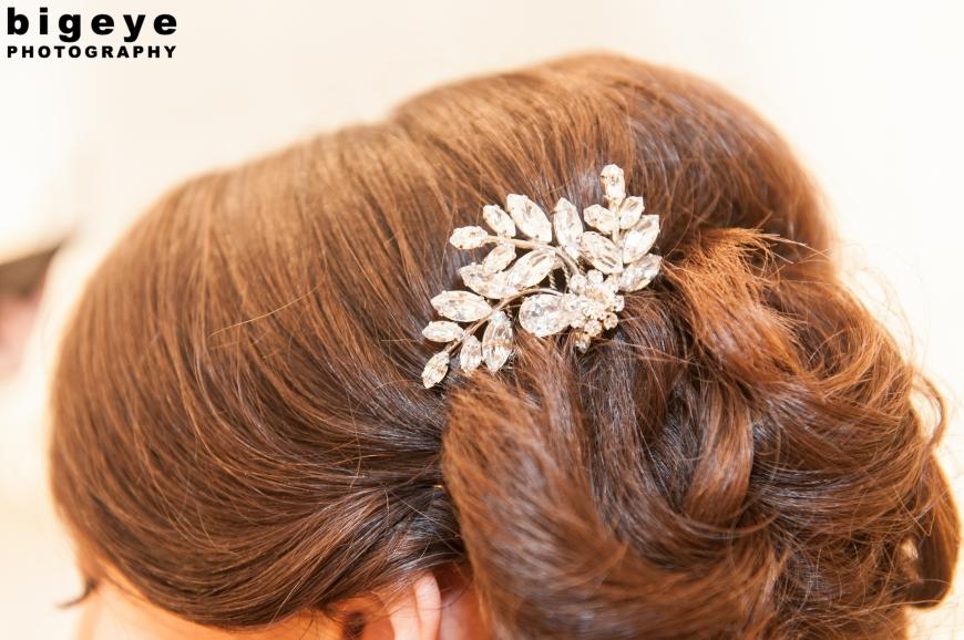 Vintage Brooch Hair sparkle