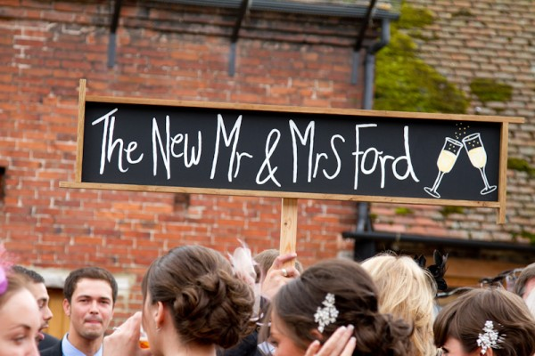 bespoke wedding sign