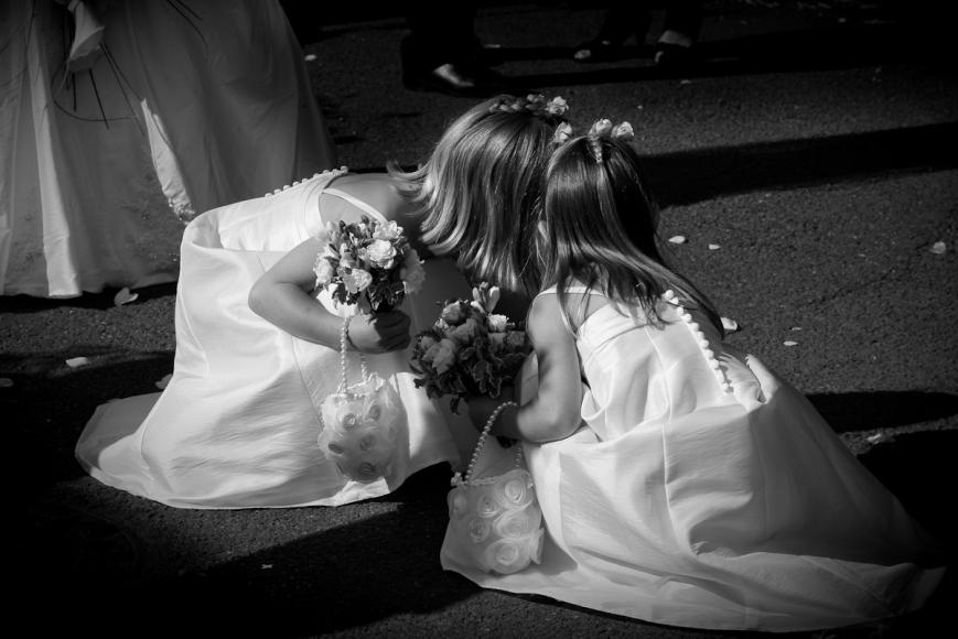bridesmaids whisper