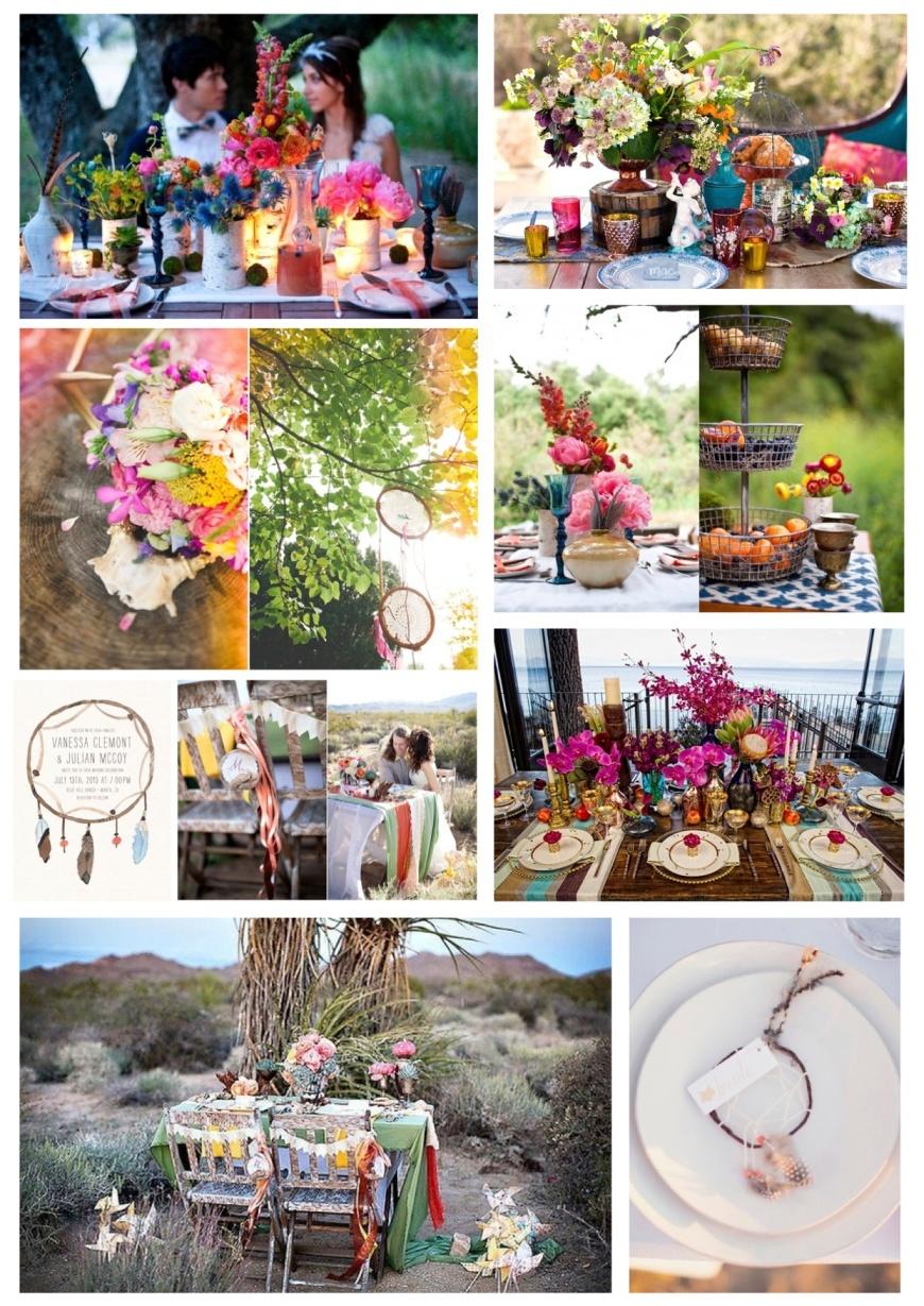 Bohemian Native American Wedding Theme