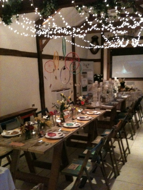 native american dream catcher aztec bohemian wedding table