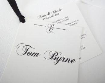 Monogram name & menu setting