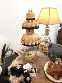 skulls cake