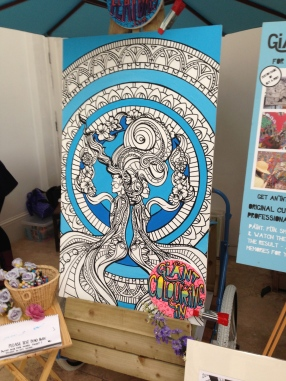 wedding colouring in poster